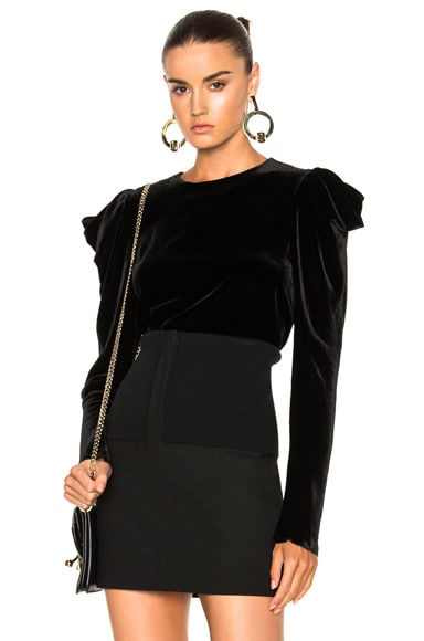 Velvet Drape Sleeve Top
