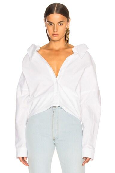 Watts Oxford Shirting Easy Shirt W/ Zipper Detail by Tibi