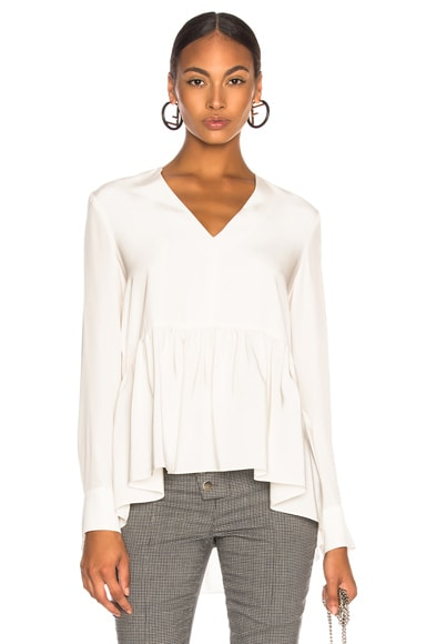 Silk CDC Peplum Top