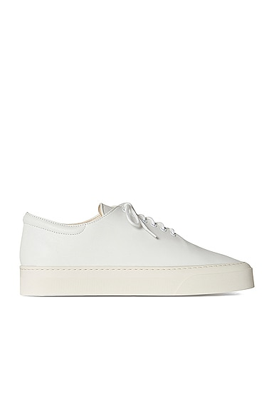 The Row Leathers MARIE H LACE UP LEATHER SNEAKERS