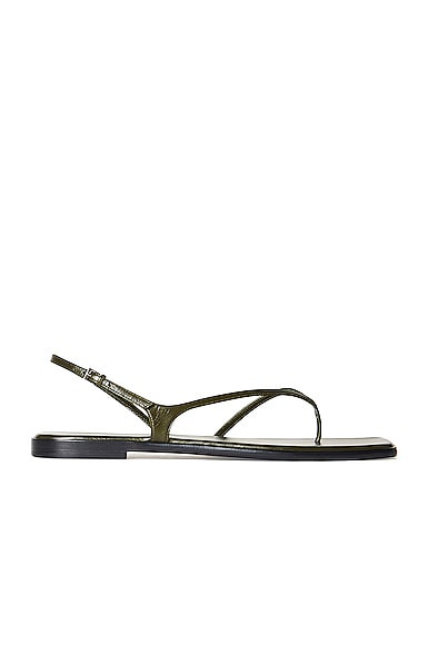 The Row Shoes CONSTANCE LEATHER FLAT SANDALS