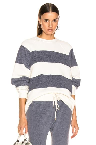 Sherpa Stripe Slouch Sweatshirt