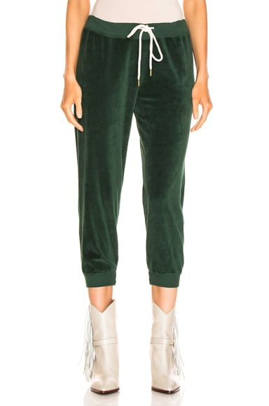 Velour Cropped Sweatpant