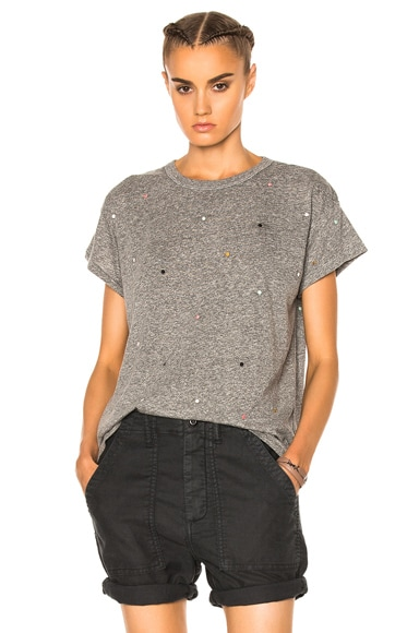 Boxy Embroidered Dots Tee