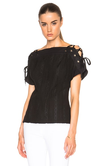 Lace Up Sleeve Top