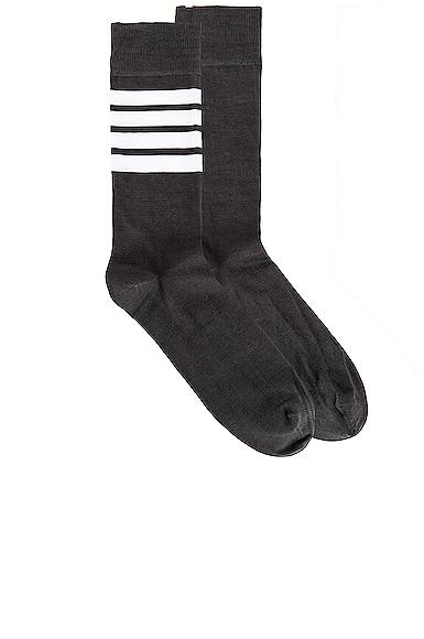 4 Bar Stripe Mid Calf Socks