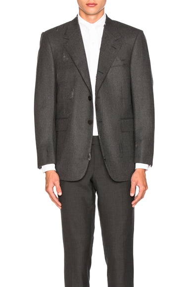 Wool Flannel Distressed Jacket