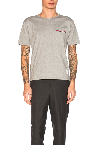 Jersey Cotton Short Sleeve Pocket Tee