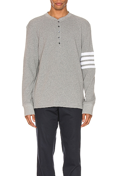 4 Bar Long Sleeve Henley