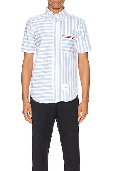 University Stripe Short Sleeve Shirt