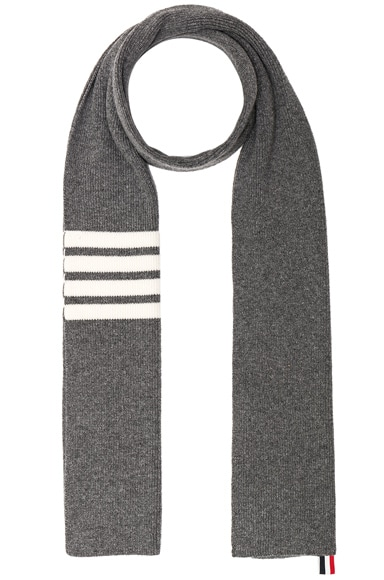 Cashmere Ribbed Bar Stripe Scarf
