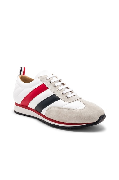 Calf Leather Quilted Running Shoes