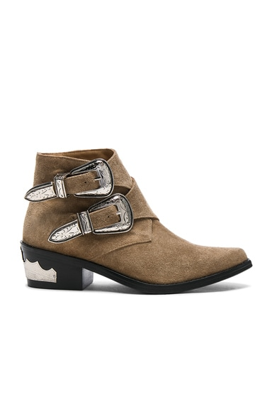 Buckle Suede Booties