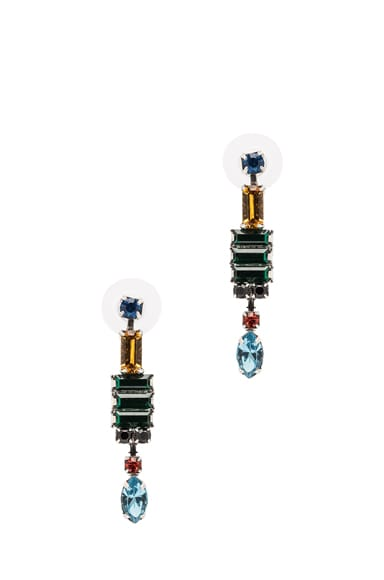 Faux Real Rhodium Plated Earrings