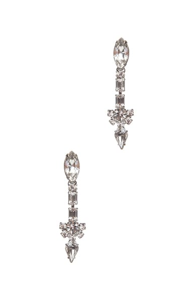 Madame Dumont Rhodium Plated Earrings