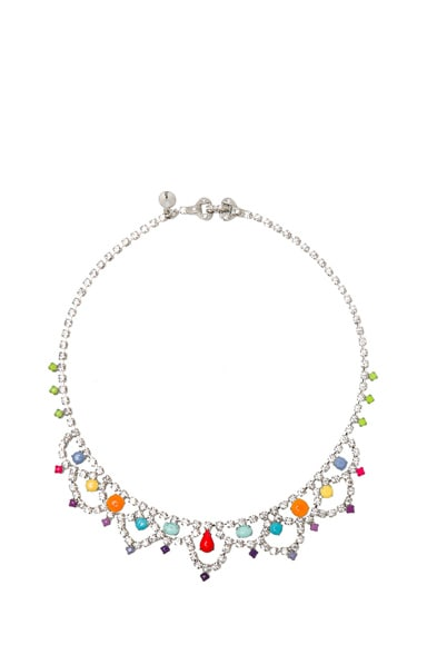 Medium Scalloped Painted Crystal Necklace