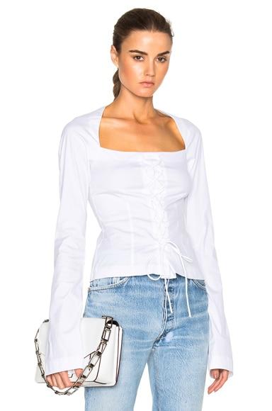 Long Sleeve Corset Top