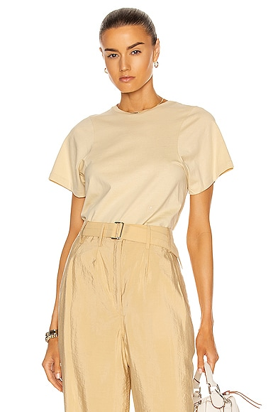 Totême Cottons CURVED SEAM TEE