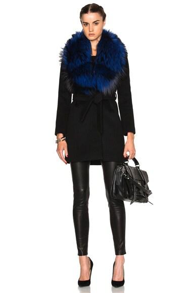 for FWRD Vanessa Coat with Fox Fur Collar