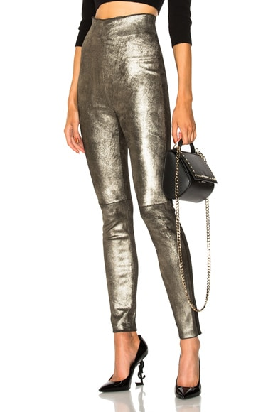 Jessica High Waisted Leather Leggings