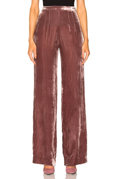 Alex High Waisted Velvet Pants