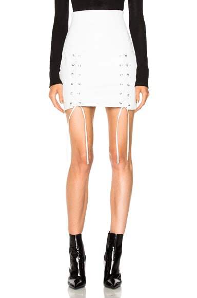 Leyla Leather Lace Up Skirt