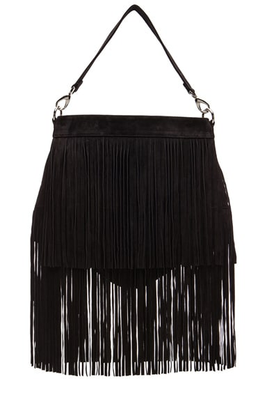 Chelsea Double Fringe Suede Bag