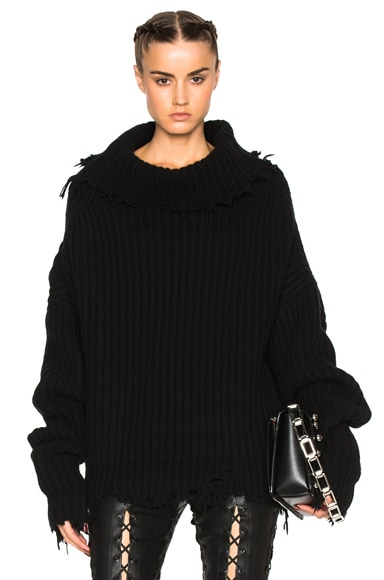 High Neck Oversized Rib Knit