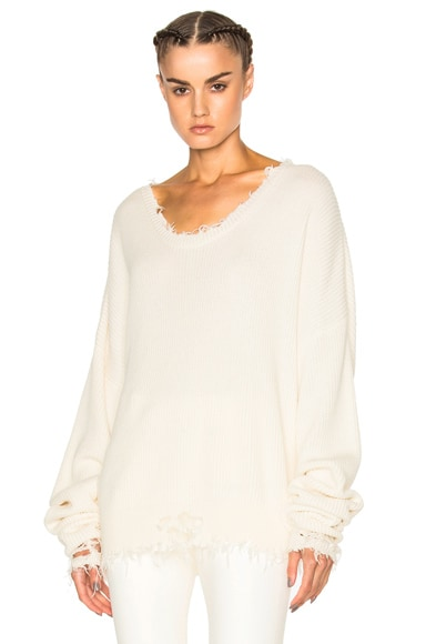 Knit Rib Oversized Crop Crew