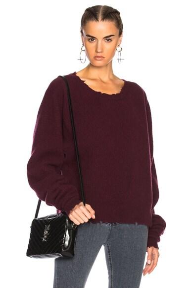Cashmere Rib Crewneck Sweater