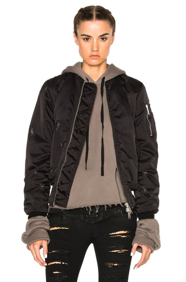 Nylon Oversized Bomber