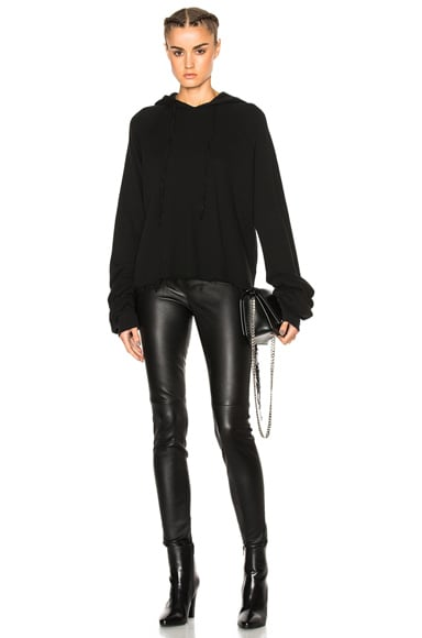 Cotton Cashmere Oversize Sleeve Hoodie