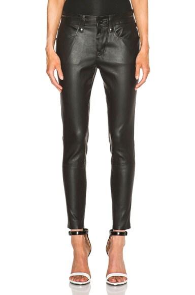 Slouchy Skinny Lambskin Leather Pants
