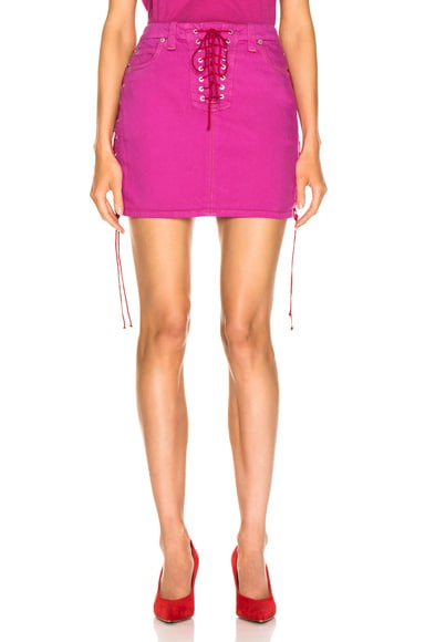 Overd Side Lace Up Skirt