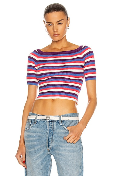 Victor Glemaud Clothing VARIEGATED RIB TOP