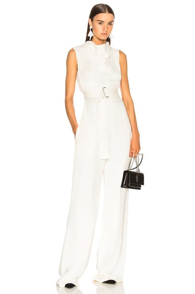 Belted Sleeveless Jumpsuit