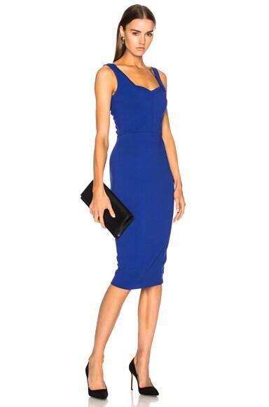 Matte Heavy Rib Jersey Drape Cami Curve Fitted Dress