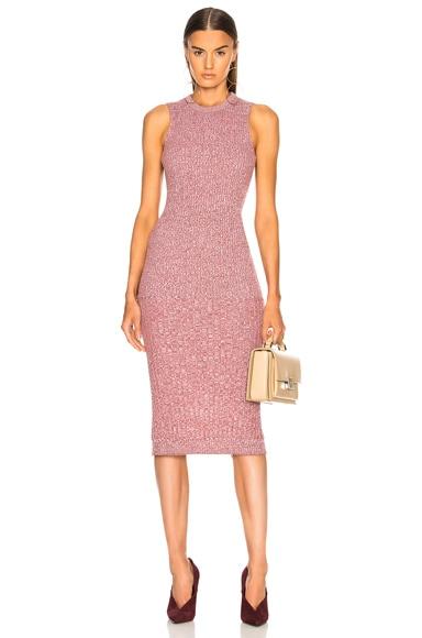 Rib Change Sleeveless Dress
