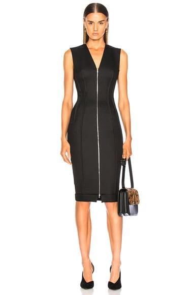 Bing Com 143 305 70: Victoria Beckham V-Neck Fitted Dress In Black