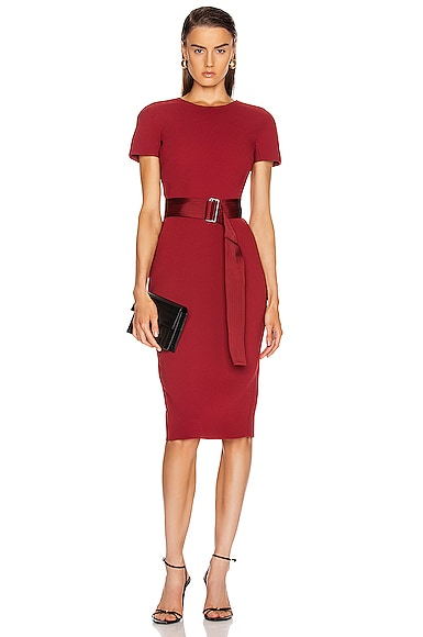 Belted T Shirt Fitted Dress