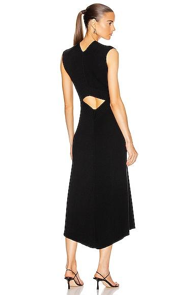 Open Back Flare Midi Dress