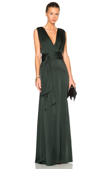 Draped Floor Length Dress