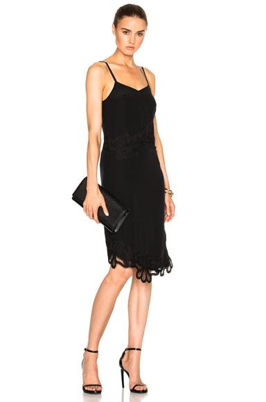 Crepe De Chine & Lace Cami Dress