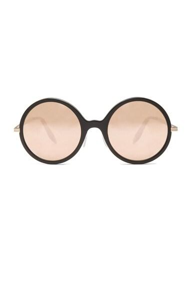 Metal Inlay Round 18 Carat Sunglasses