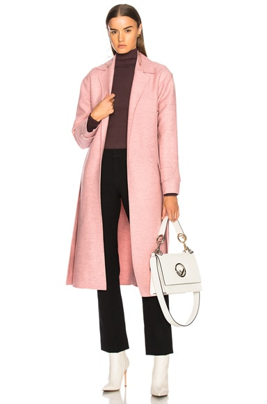Soft Felt Side Panel Slim Coat