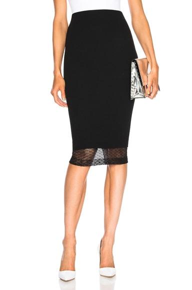 Lace Detail Pencil Skirt