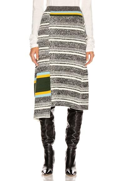 Asymmetric Flared Skirt