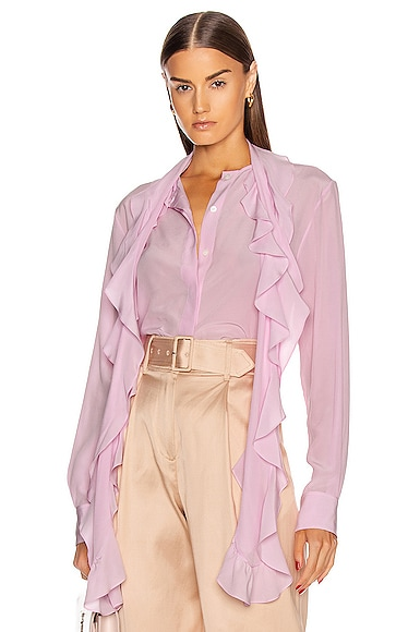 Frill Scarf Blouse