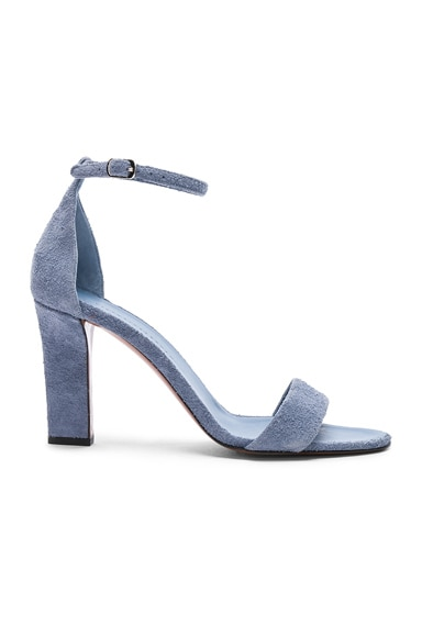 Suede Anna Ankle Strap Sandals