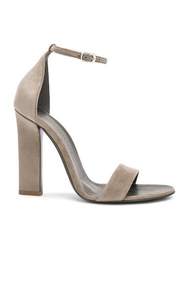 Suede Anna Ankle Strap Heels